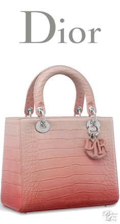Brilliant Luxury ♦ Dior Autumn 2016 ~ Lady Dior bag in shiny graded pink alligator