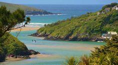 River Gannel and Crantock beach, Newquay, Cornwall Cornwall Surfing, Cornwall Beaches, Beautiful Places To Visit, Beautiful Beaches, Places To See, Beautiful Scenery, Amazing Places, Devon And Cornwall, Cornwall England