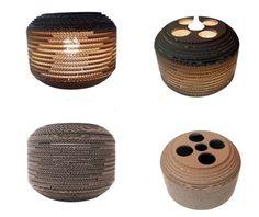 BECZKA 304 - LAMPA Z KARTONU / Nazwa: BECZKA 304/ Średnica: 30 cm / Wysokość: 23 cm / Dolny otwór : 17,5 cm / cardboard lamp; #light #interior #home #design #homedesign #cardboard