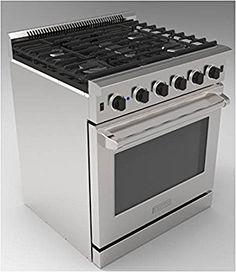 "Amazon.com: Thor Kitchen 30"" Stainless Steel Gas Range Oven with 5 Burner LRG3001U: Appliances"