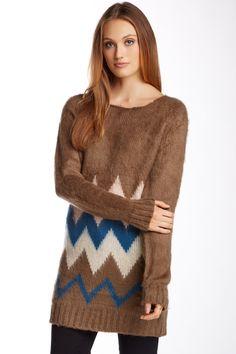 Very J Chevron Pullover Sweater