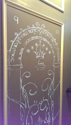 Hidden Lord of the Rings, Mines of Moria door into my basement movie theater! - Album on Imgur