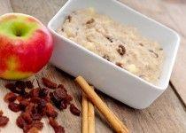 Havermoutpap met appel kaneel en rozijnen en nog meer gezonde recepten op de site.
