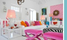 turquoise+and+orange+design | Pink And Orange Living Room Design Ideas & Pictures