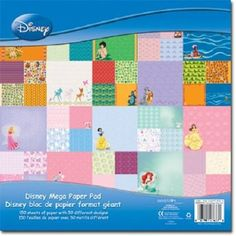 DISNEY SCRAPBOOK PAPER!!!!! I want this--but have no way I would use it . . . . :(