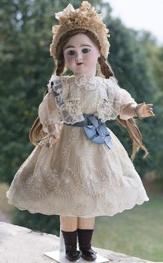 """24"""" Very beautiful French Bisque Eden Bebe doll by Fleischmann & Blodel, Depose Model with Angelic Face"""