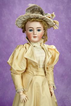 Elan Auction - June 10-11, 2017 | Beautiful German Bisque Lady Doll, 1159, by Simon and Halbig. $2000/3200