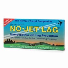 TOPSELLER! Lewis N. Clark No-Jet-Lag Homeopathic Flight Fatigue Remedy $8.95