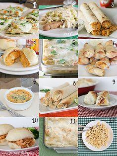24 way to use shredded chicken!