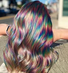 Oil Slick Hair Is The Perfect Hair Color Trend For Brunettes - Icon People - Ideas of Icon People - Brunettes get ready to hop on board with the newest hair trend! Oil slick hair was made with you in mind so colored hair is possible without bleaching. Exotic Hair Color, Cool Hair Color, Oil Slick Hair Color, Hair Color For Kids, Hair Color Ideas, Creative Hair Color, Hair Dye Colors, Rainbow Hair Colors, Long Hairstyles