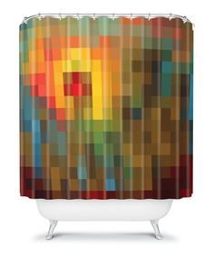 Take a look at this Yellow & Brown Glorious Colors Shower Curtain by DENY Designs on #zulily today!