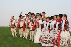 One of the most iconic Polish regional folk costumes - Podhale region (Gorale / Highlander) costumes. (Pic from real-life wedding)