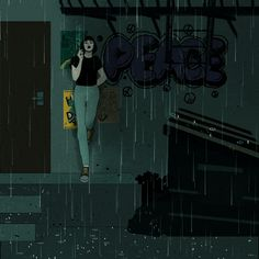 Might pass out soon - trashartandwatermelon - # Rain Animation, Pixel Animation, Aesthetic Movies, Aesthetic Gif, Aesthetic Drawing, Anime Gifs, Sad Anime, Music Background, Broken Heart Art