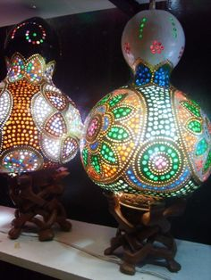 gourd lamps!