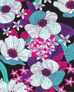 Recent Fabric Prints by Tiffany Feddema, via Behance