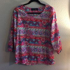 NWOT Francescas top Beautiful blouse from Francesca's. Quarter length sleeves, in perfect condition. It's never been worn, only to try on! Open to trades and offers!  Francesca's Collections Tops Blouses