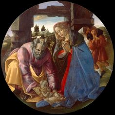 Botticelli in Boston: The Largest Ever U. Showing of the Renaissance Master Nativity Painting, Gardner Museum, Social Art, Italian Painters, Madonna And Child, Sacred Art, Sandro, Ciel, Art World