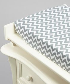 Silver Zigzag Changing Pad Cover - the company Lolly Gags has pad covers and crib sheets