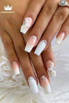 Bridal Toe Nails, Wedding Gel Nails, Beach Wedding Nails, Bridal Nail Art, Wedding Nails For Bride, Bride Nails, Wedding Nails Design, Wedding Toes, Nails For Brides