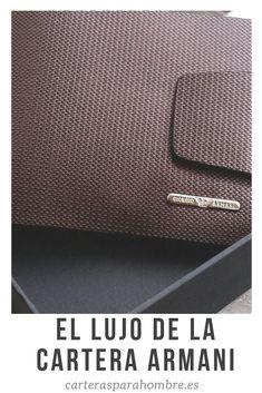 93ef12de3d332 La marca de moda italiana Armani ha tenido siempre una amplia gama de  productos de cuero
