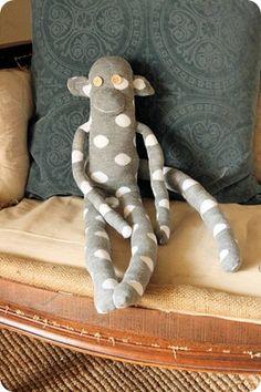 http://www.craftbits.com/project/sock-monkey  via http://jonesdesigncompany.com/create/i-made-a-sock-monkey/