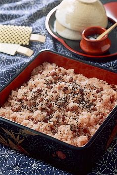 Sekihan steamed rice with red beans | 赤飯
