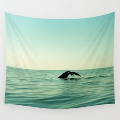 Whale Wall Tapestry by julieart