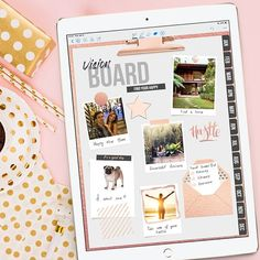 Do you make vision boards for your goals or bucket lists? I used to cut out magazine images and glue them on paper, then hang in my room… Out Magazine, Magazine Images, Planner Apps, Life Planner, Digital Vision Board, Types Of Planners, Planner Template, Bucket Lists, Bullet Journal