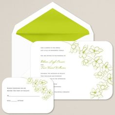Love Affair Wedding Invitation | Wedding Invitation:: I don't know about the color, but if they do an outdoor reception this would be sweet.