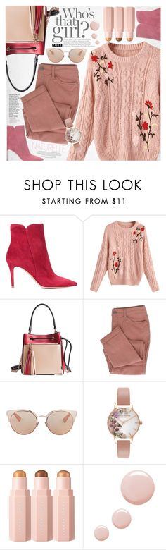 """""""Little mix"""" by vanjazivadinovic ❤ liked on Polyvore featuring Gianvito Rossi, Christian Dior, Olivia Burton, Topshop, polyvoreeditorial and zaful"""