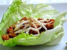 Lettuce Wraps... Add chicken, lean steak or even some turkey to some lettuce, season with your favorite spices and take them on the go.