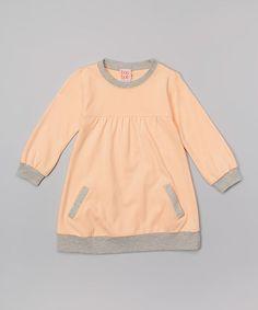 Look at this #zulilyfind! Peach Organic Sweater Dress - Girls #zulilyfinds