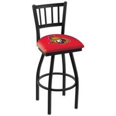 """Ottawa Senators 30"""" Wrinkle Swivel Bar Stool with Jailhouse Style Back - $199.00"""