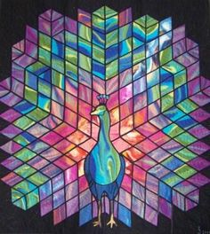 HOW BREATHTAKING! Brilliant Quilt art. COULD BE MOSAIC. This was just so pretty I had to share it!