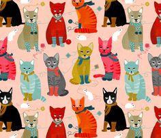 – Kittens In Mittens – Spoonflower
