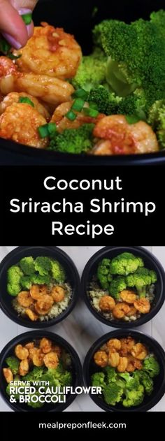 Coconut Sugar Sriracha Shrimp Meal Prep  This Coconut Sugar Sriracha Shrimp Meal Prep recipe is fast, easy and incredibly delicious! It is the perfect balance of sweet and spicy to satisfy your taste buds! Made in less than 10 minutes, this Paleo friendly, gluten-free meal prep recipe will leave you plenty of time to still enjoy your weekend.