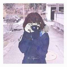 Camera drawing - Best Picture For Cameras lens For Your Taste You are looking for s Anime Art Girl, Manga Art, Anime Girls, Aesthetic Art, Aesthetic Anime, Kawai Japan, Character Illustration, Illustration Art, Desu Desu