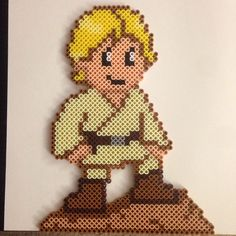 Luke Skywalker - Star Wars perler beads by thatperlernerd
