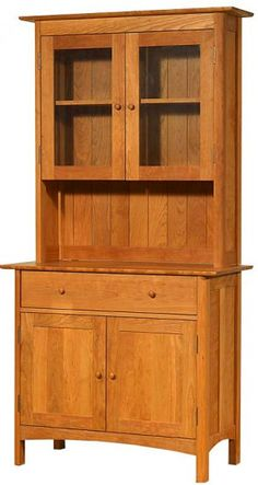 Our Solid Wood Modern Shaker Small Buffet And Hutch Is Perfect For The  Contemporary Home.
