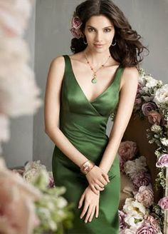Moss green bridesmaid