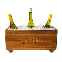 The combination of wood and galvanized metal gives the Live Love Wine Wooden Wine Trough a unique rustic appeal. An ice bucket perfect for entertaining, the rustic wine cooler is constructed from fir wood and features a removable, galvanized metal bu Beverage Tub, Rustic Exterior, Wine Chiller, Wine Coolers, Galvanized Metal, Unique Home Decor, Along The Way, Rustic Wood, Weathered Wood