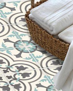 vinyl boden ziegel fu boden aufkleber sticker carreaux ciment enkaustik floc fliese sticker. Black Bedroom Furniture Sets. Home Design Ideas