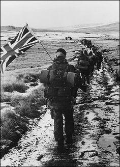 British Forces retake the Falkland Archipelago from Argentina, 1982.