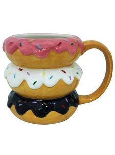 """Donut"" Mug (Brown) - www.inkedshop.com"