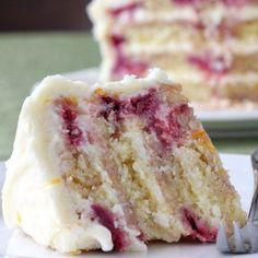 Lemon Iced Raspberry Yogurt Cake