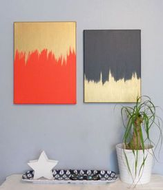 25 Creative and Easy DIY Canvas Wall Art Ideas.Be an artist yourself and make beautiful art for your home. You don't have to pay a lot of money on art pieces, you can simply create them by yourself. Diy Canvas, Canvas Wall Art, Canvas Ideas, Canvas Paintings, Abstract Canvas, Bathroom Canvas Art, Simple Paintings, Modern Paintings, Bathroom Wall