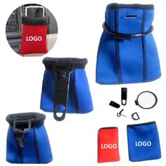 This neoprene pouch is hooked to the automotive internal air vent holding cellphones, pens, business cards, sunglasses, and more. It comes with a plastic frame and is hooked together with the 3mm thick neoprene. It is popular because the portability and durability it provides. This is an ideal promotional product for automobile-related events. Lead time may be 8 weeks when the quantity exceeds 5,000 PCs.