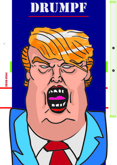 Donald Drumpf foldable popup character. You can move its eyes and its mouth.