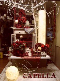 Escaparate CAPELLA Decoración, Navidad año 2009, 2º premio de escaparate del Ayuntamiento de Antequera, www.capelladecoracion.com