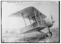 German Biplane Ago type (LOC)